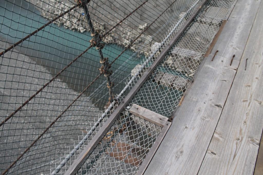吊り橋の板