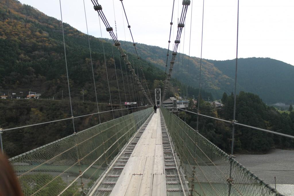 吊り橋移動中